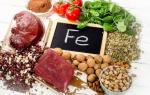 Железосодержащие продукты при анемии — список